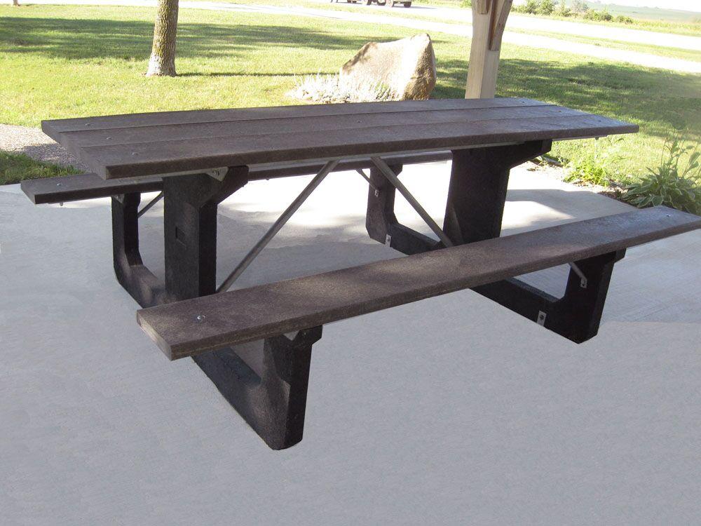 Simons Walk Thru Plastic Picnic Table Top Color: Brown, Table Top Size: 31.75