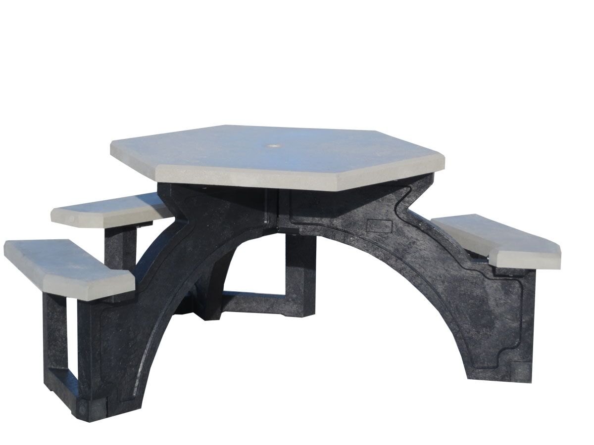 Simms Plastic Picnic Table Top Color: Gray