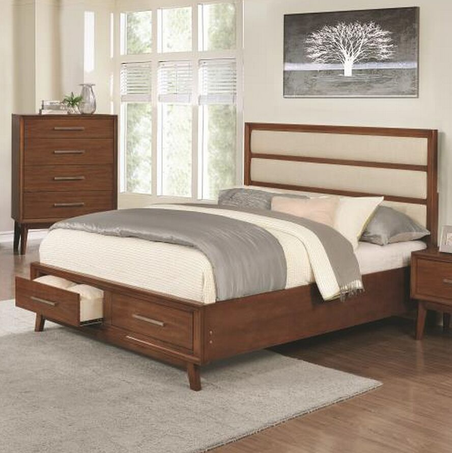 Marisol Upholstered Storage Platform Bed Size: California King