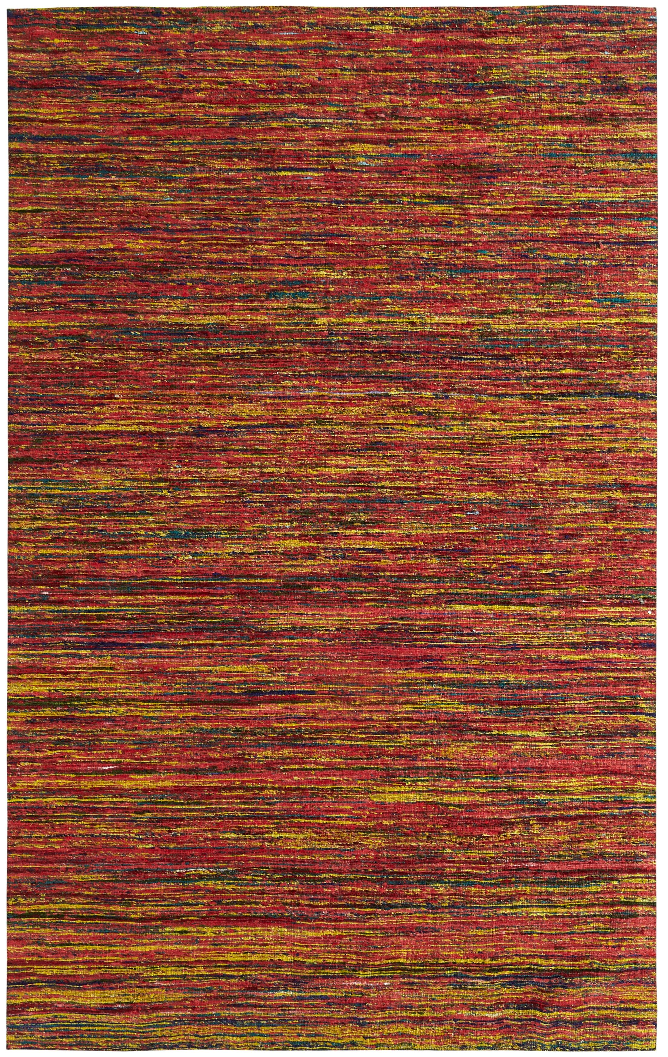 One-of-a-Kind Beach Hand-Woven Red Area Rug