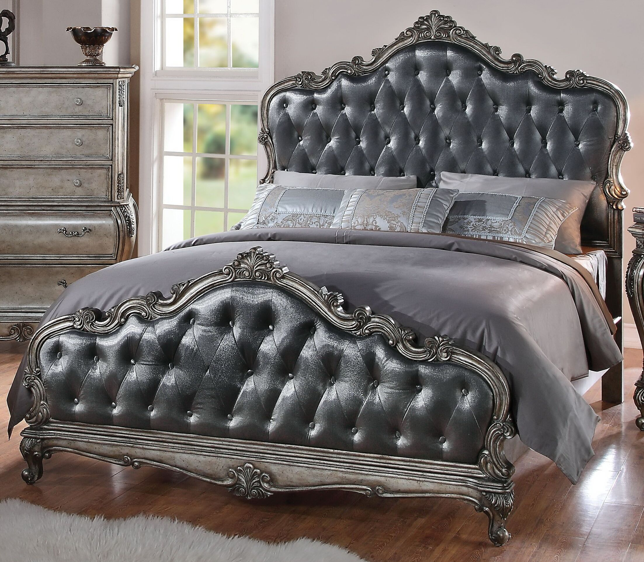 Rory Upholstered Panel Bed Size: Queen
