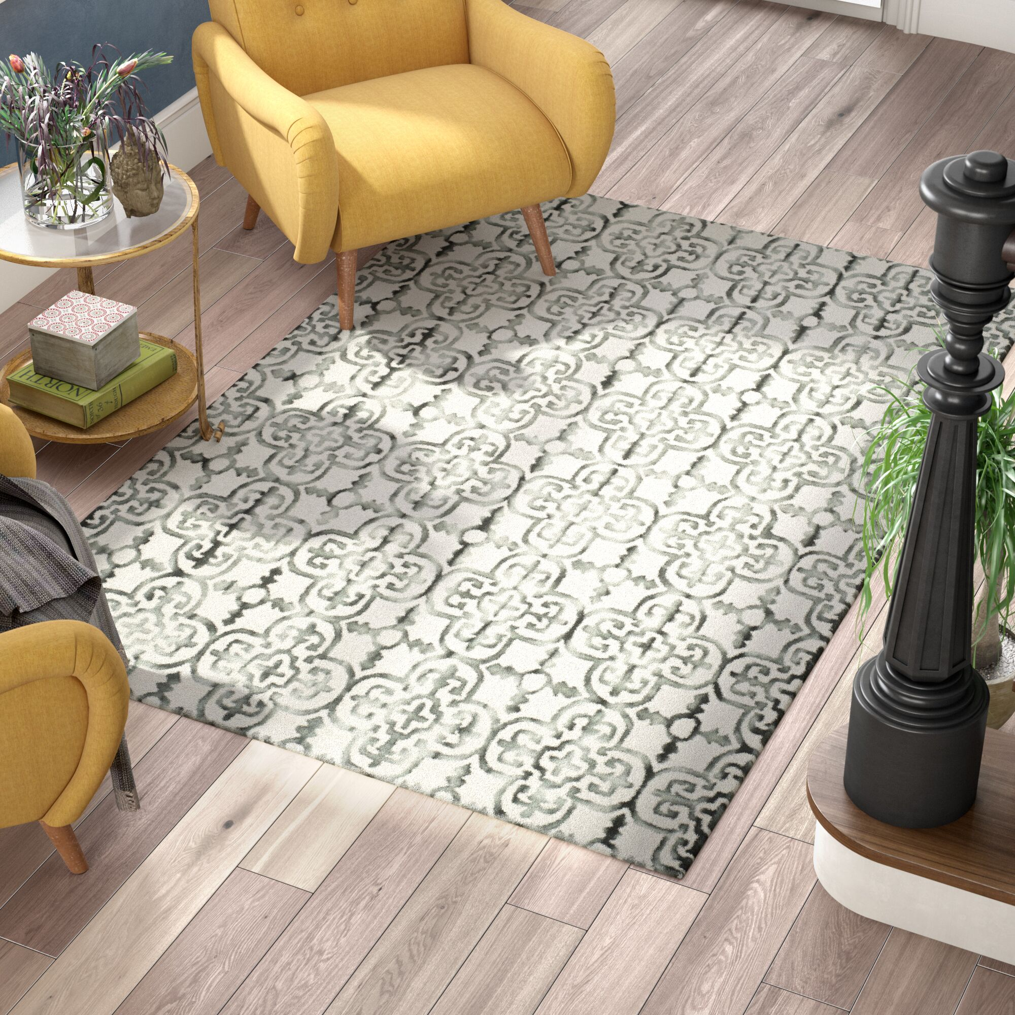 Naples Park Hand Tufted Wool Ivory Area Rug Rug Size: Runner 2'3