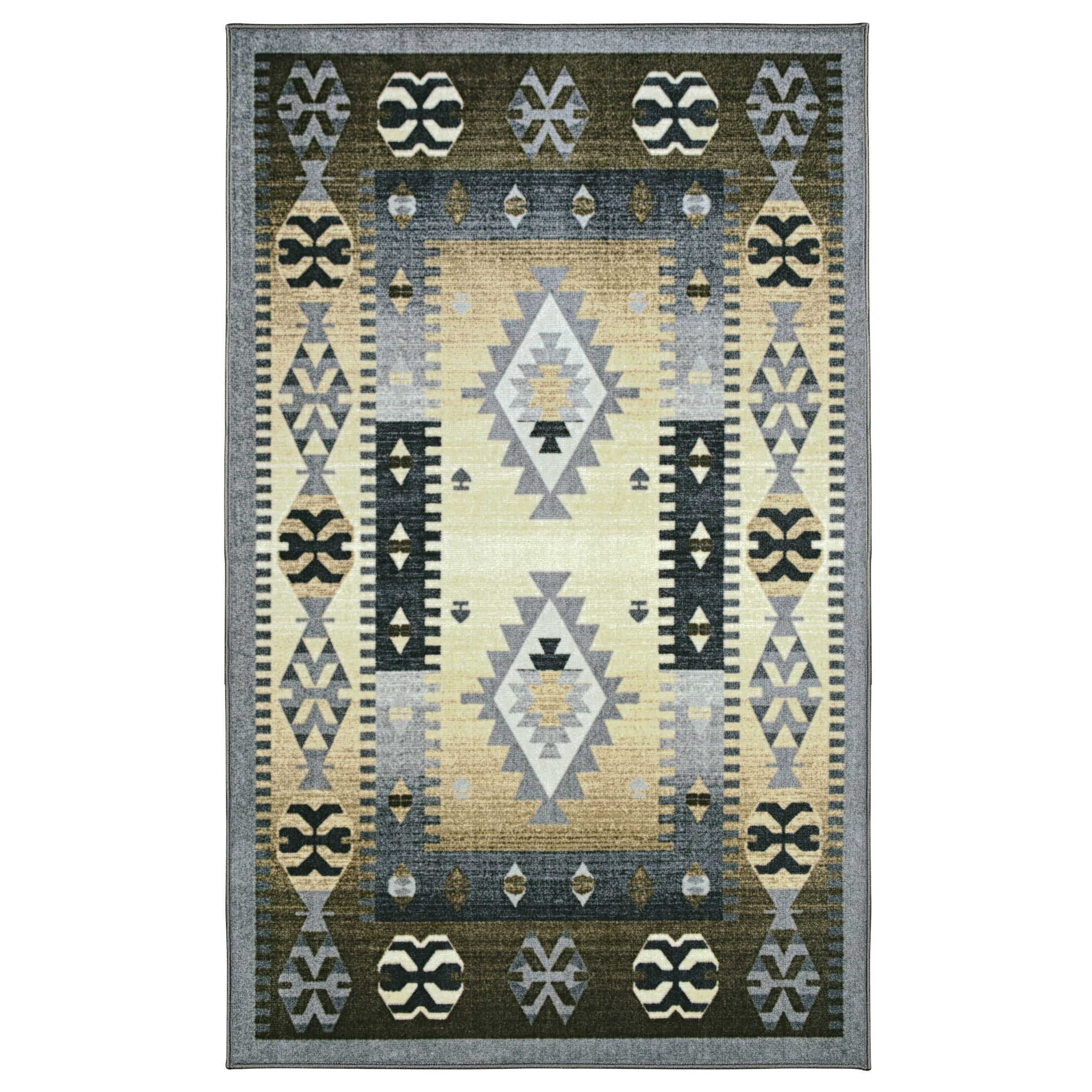 Amy Printed Non-Slip Gray/Beige Area Rug Rug Size: Rectangle 8' x 10'