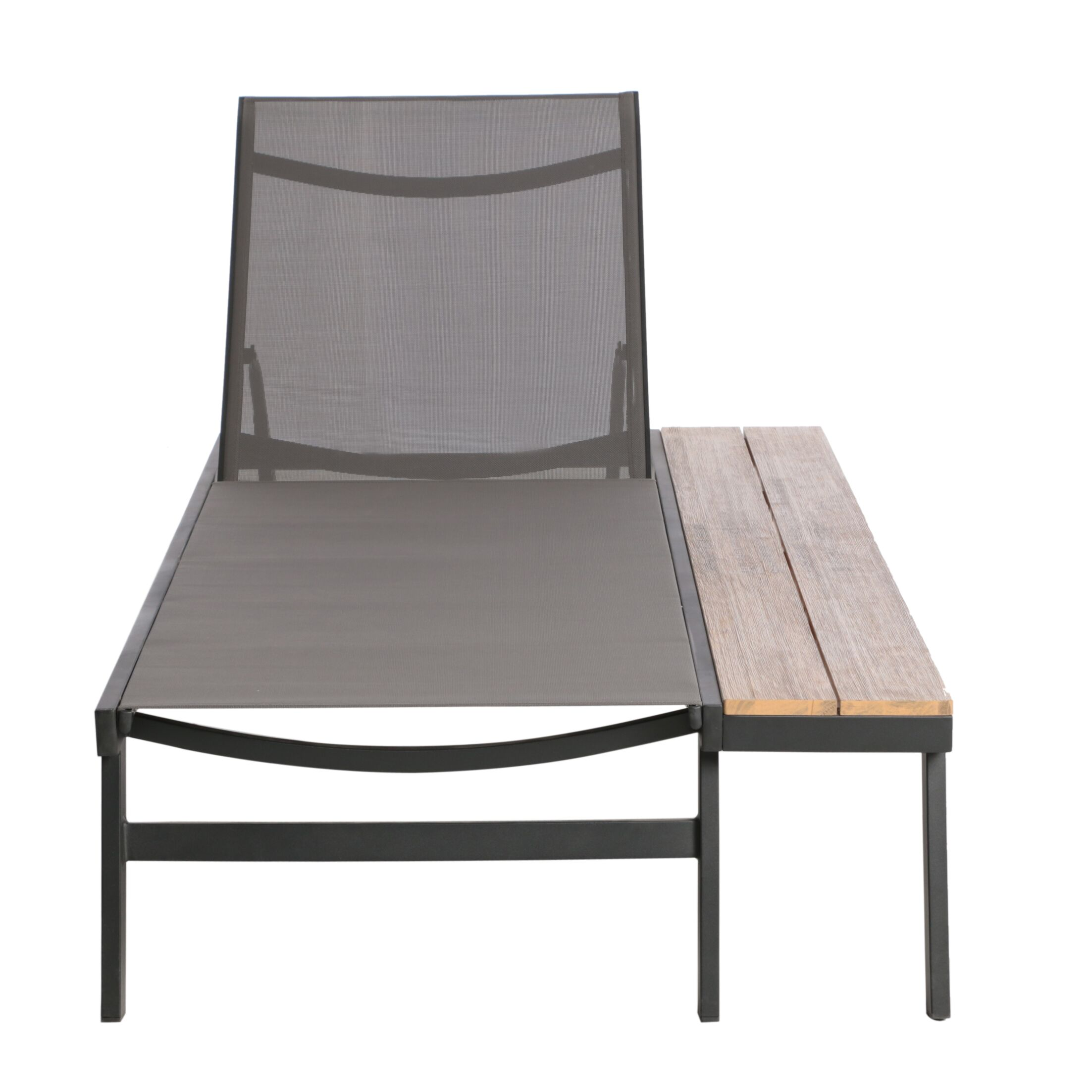 Achillee Reclining Chaise Lounge with Table