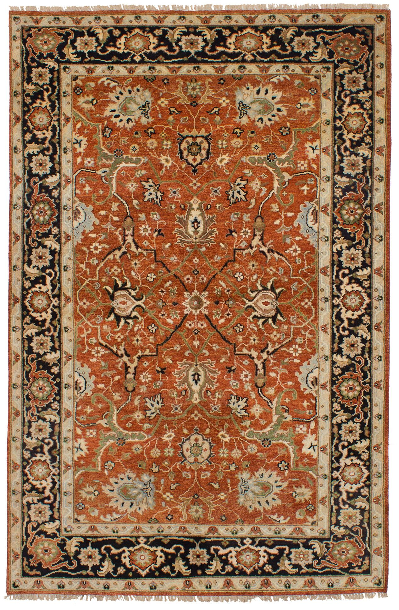One-of-a-Kind Doerr Hand-Knotted Wool Dark Copper Area Rug