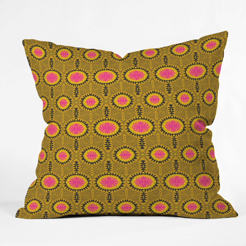 Holli Zollinger Zebrini Tribal Mambo Throw Pillow Size: 18