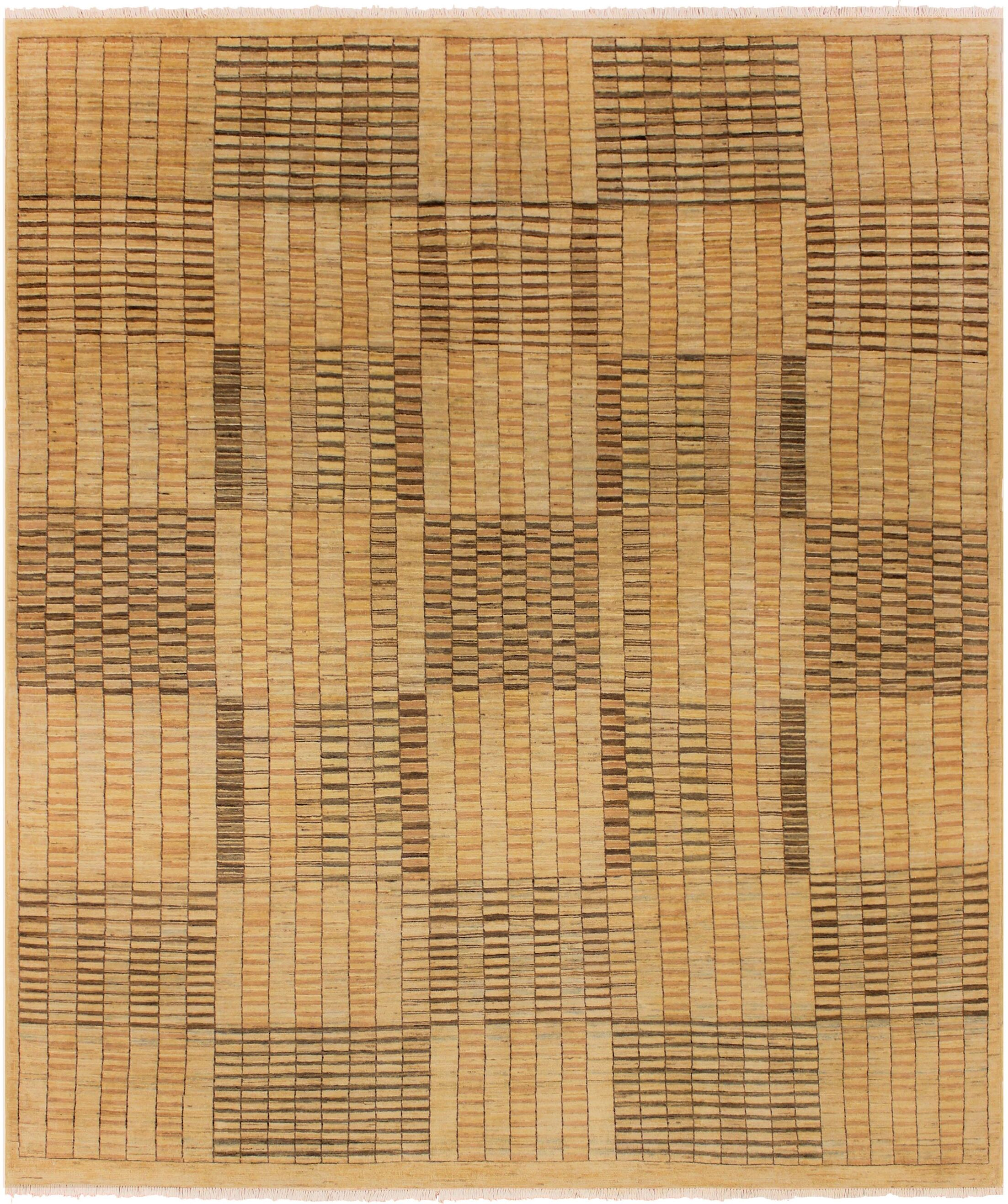 One-of-a-Kind Lyle Peshawar Hand Knotted Wool Tan/Brown Area Rug