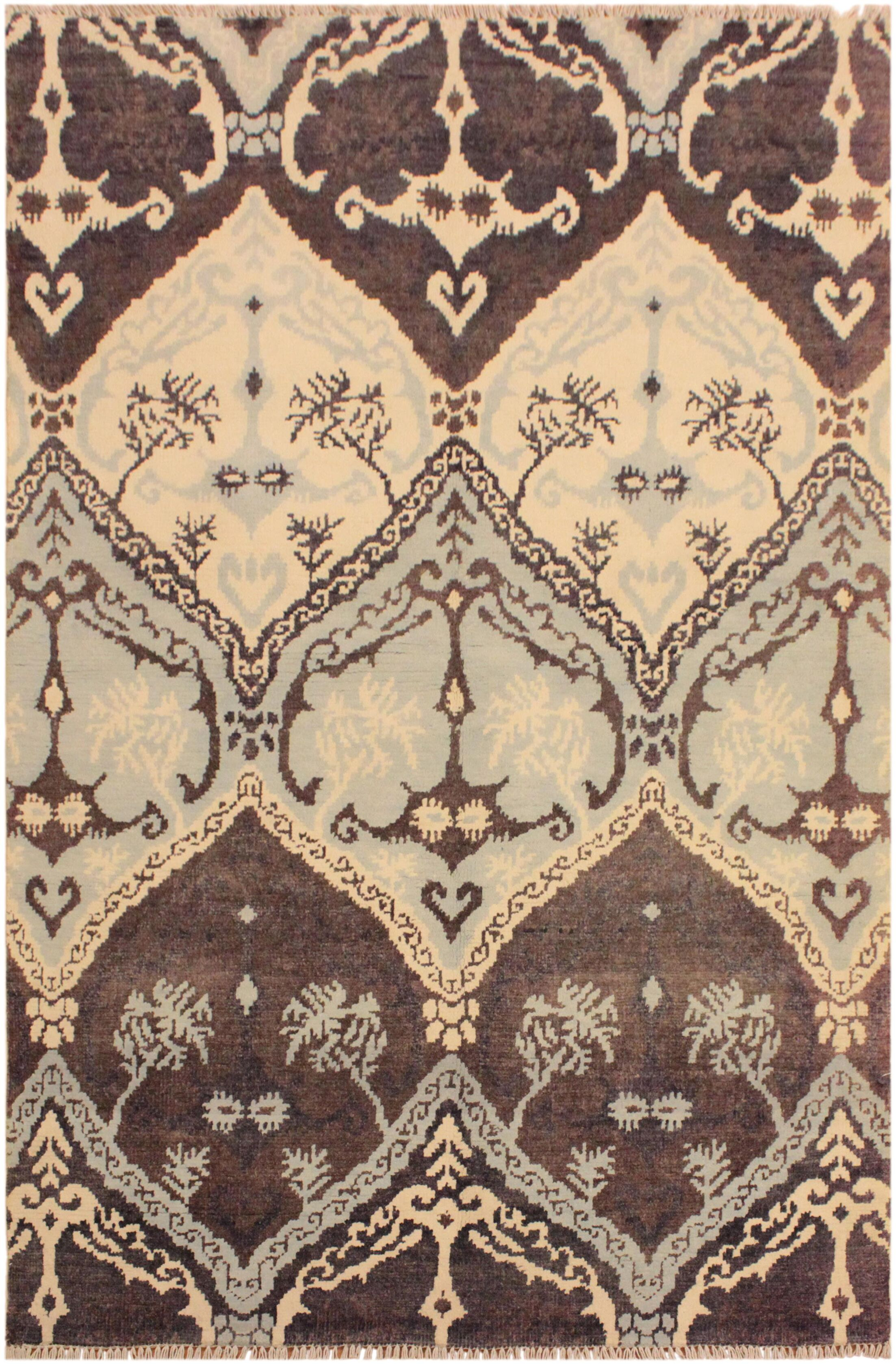 One-of-a-Kind Lusk Hand Knotted Wool Brown/Ivory Area Rug