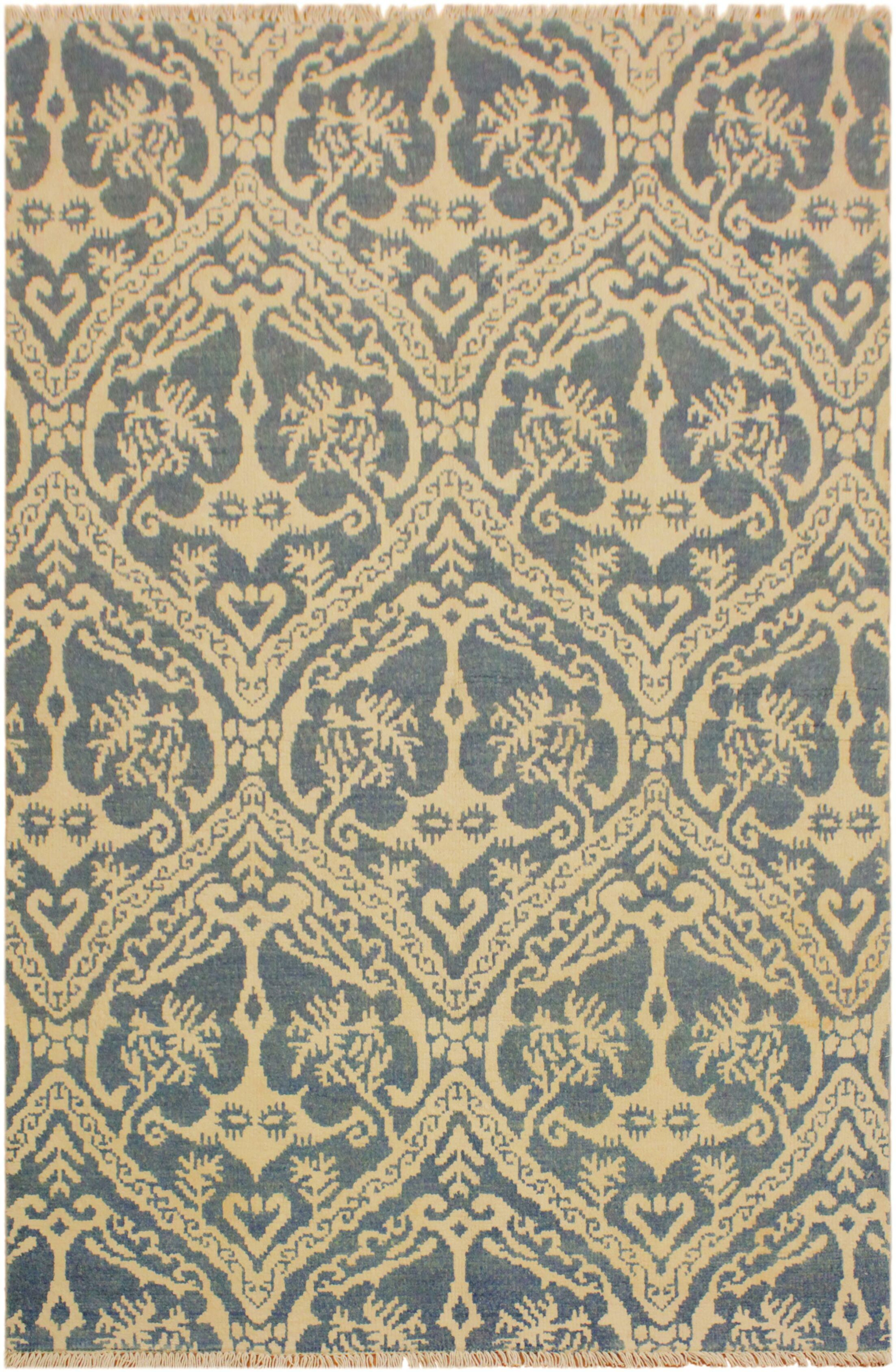 One-of-a-Kind Lusk Hand Knotted Wool Light Blue/Ivory Area Rug