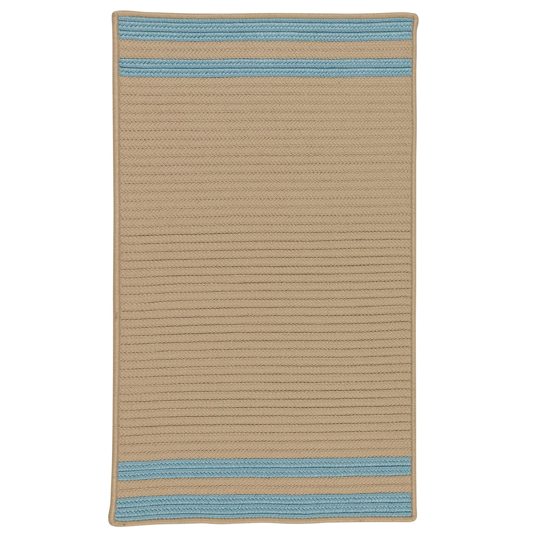 Kellie Stripe Hand-Braided Federal Blue/Brown Indoor/Outdoor Area Rug Rug Size: Rectangle 2' x 4'