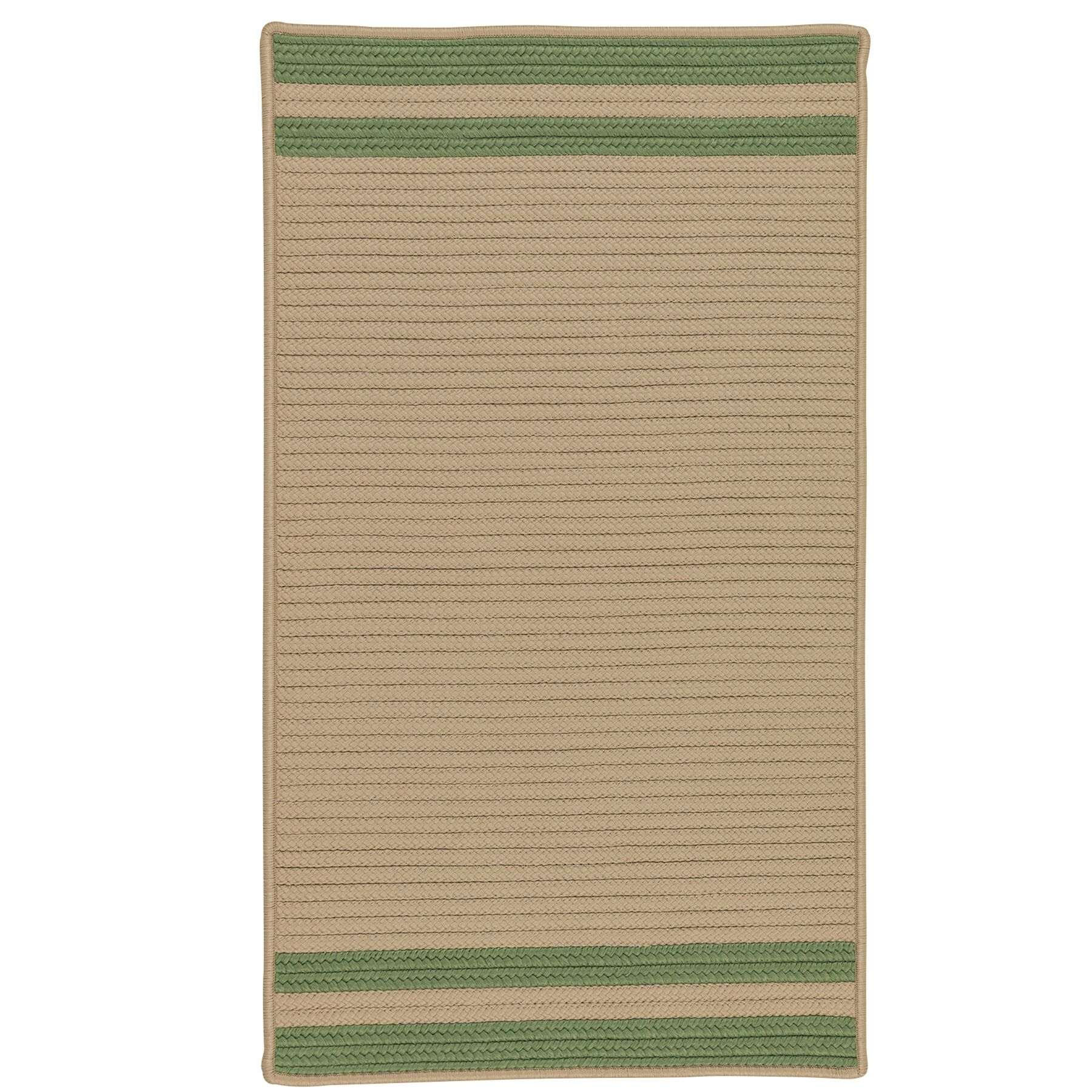 Kellie Stripe Hand-Braided Moss Green/Brown Indoor/Outdoor Area Rug Rug Size: Rectangle 5' x 8'