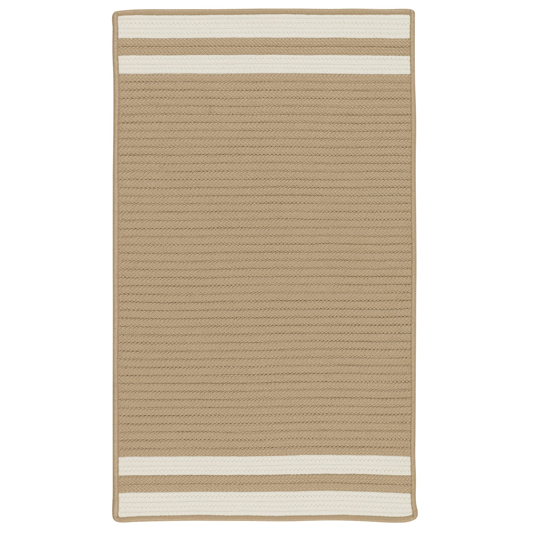 Kellie Stripe Hand-Braided Brown/Ivory Indoor/Outdoor Area Rug Rug Size: Rectangle 4' x 6'