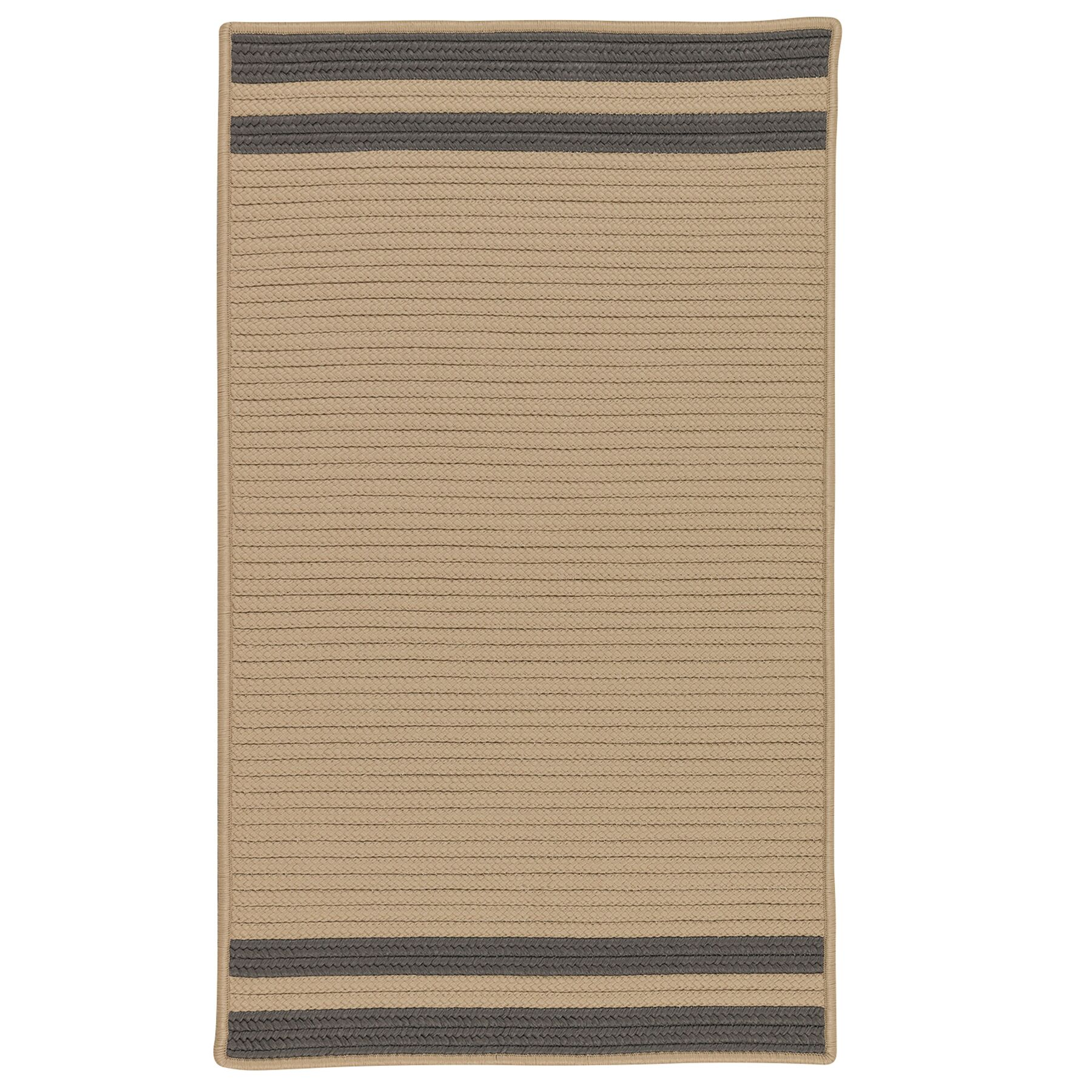 Kellie Stripe Hand-Braided Brown/Gray Indoor/Outdoor Area Rug Rug Size: Rectangle 6' x 9'