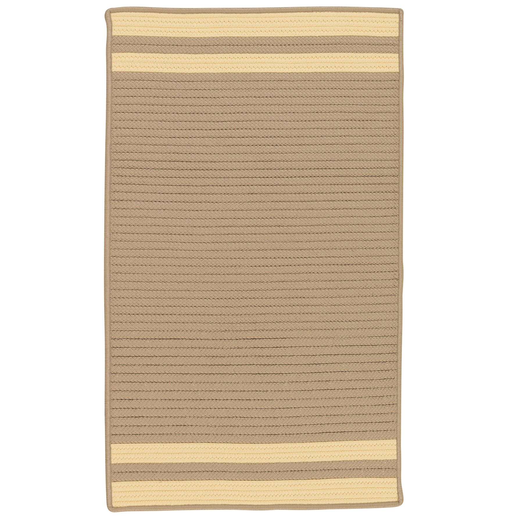 Kellie Stripe Hand-Braided Brown/Yellow Indoor/Outdoor Area Rug Rug Size: Rectangle 9' x 12'