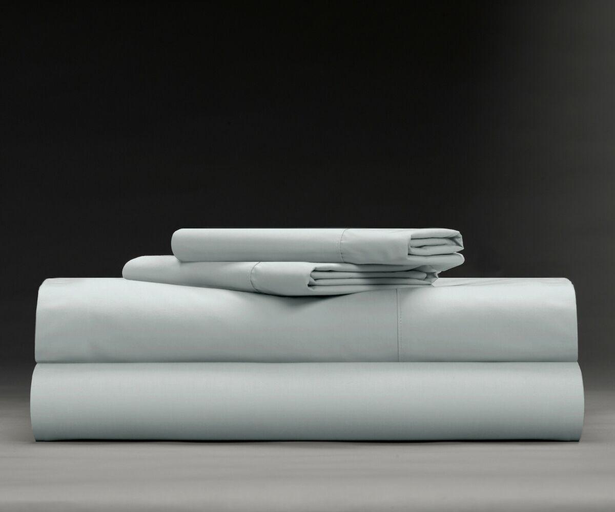 Isaiah Cool & Crisp 400 Thread Count 100% Cotton Sheet Set Size: King, Color: Light Gray