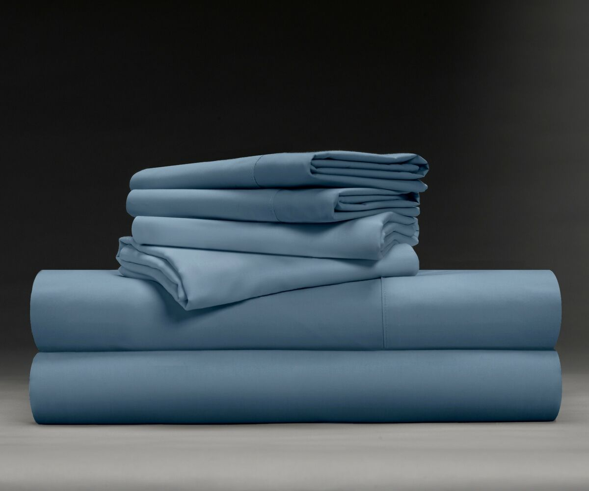 Wesley Luxe Soft & Smooth 600 Thread Count Sheet Set Size: Full, Color: Cadet Blue