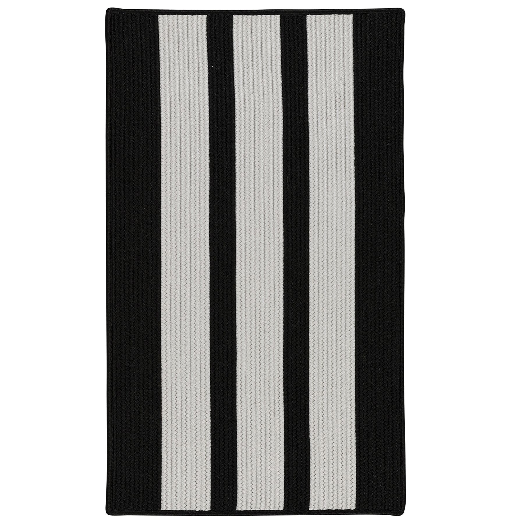 Wes Vertical Stripe Hand-Braided Gray/Black Indoor/Outdoor Area Rug Rug Size: Rectangle 10' x 13'