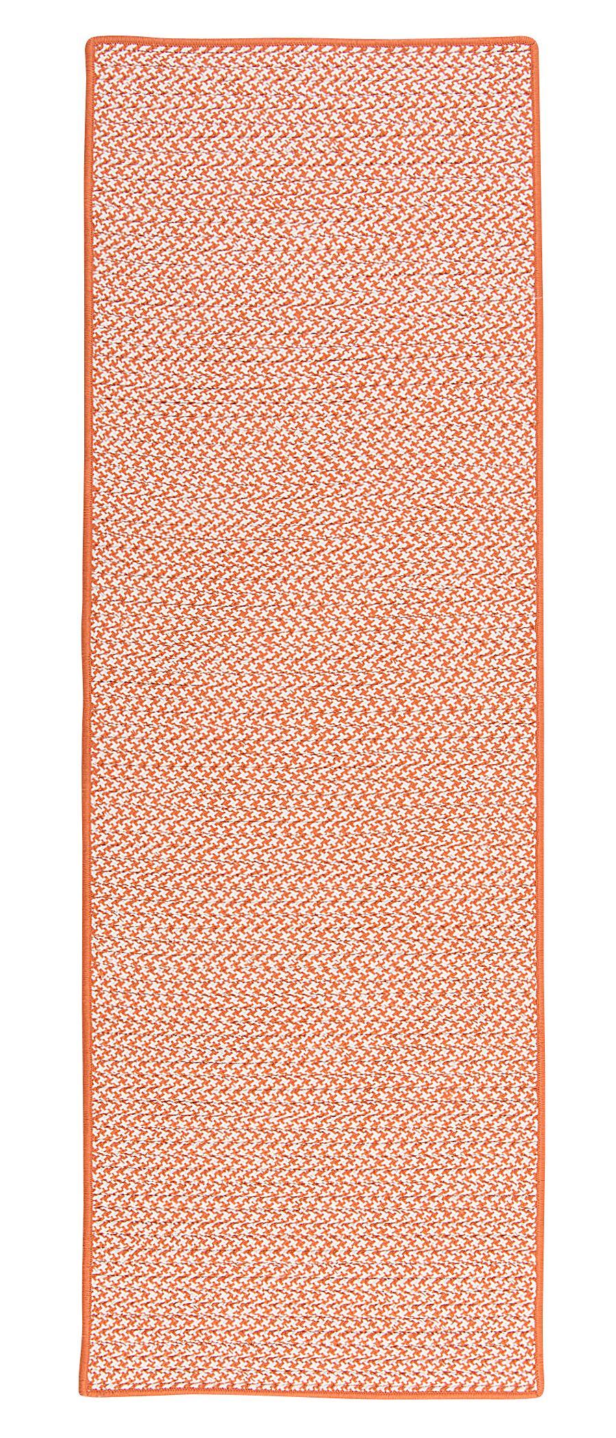 Duane Hand-Braided Orange Indoor/Outdoor Area Rug Rug Size: Runner 2'6