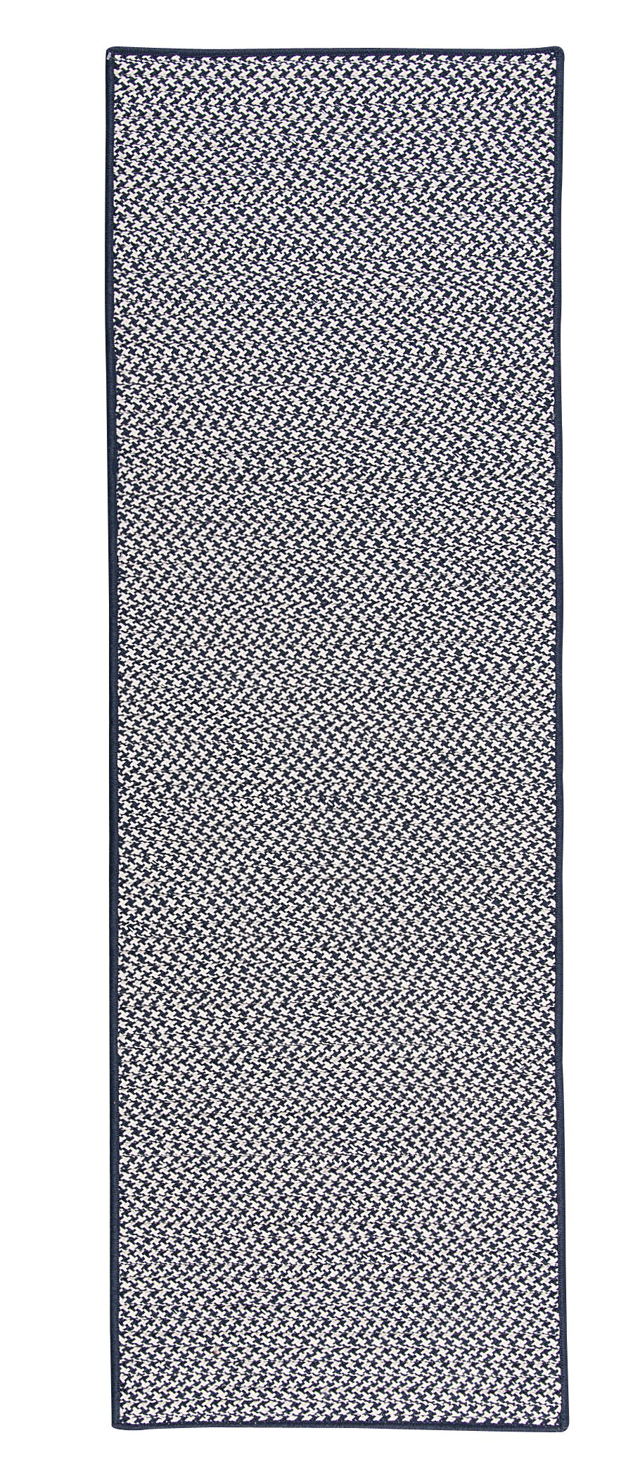 Duane Hand-Braided Blue Indoor/Outdoor Area Rug Rug Size: Runner 2'6