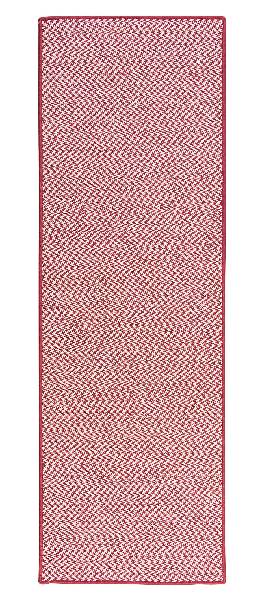Duane Hand-Braided Red Indoor/Outdoor Area Rug Rug Size: Runner 2'6