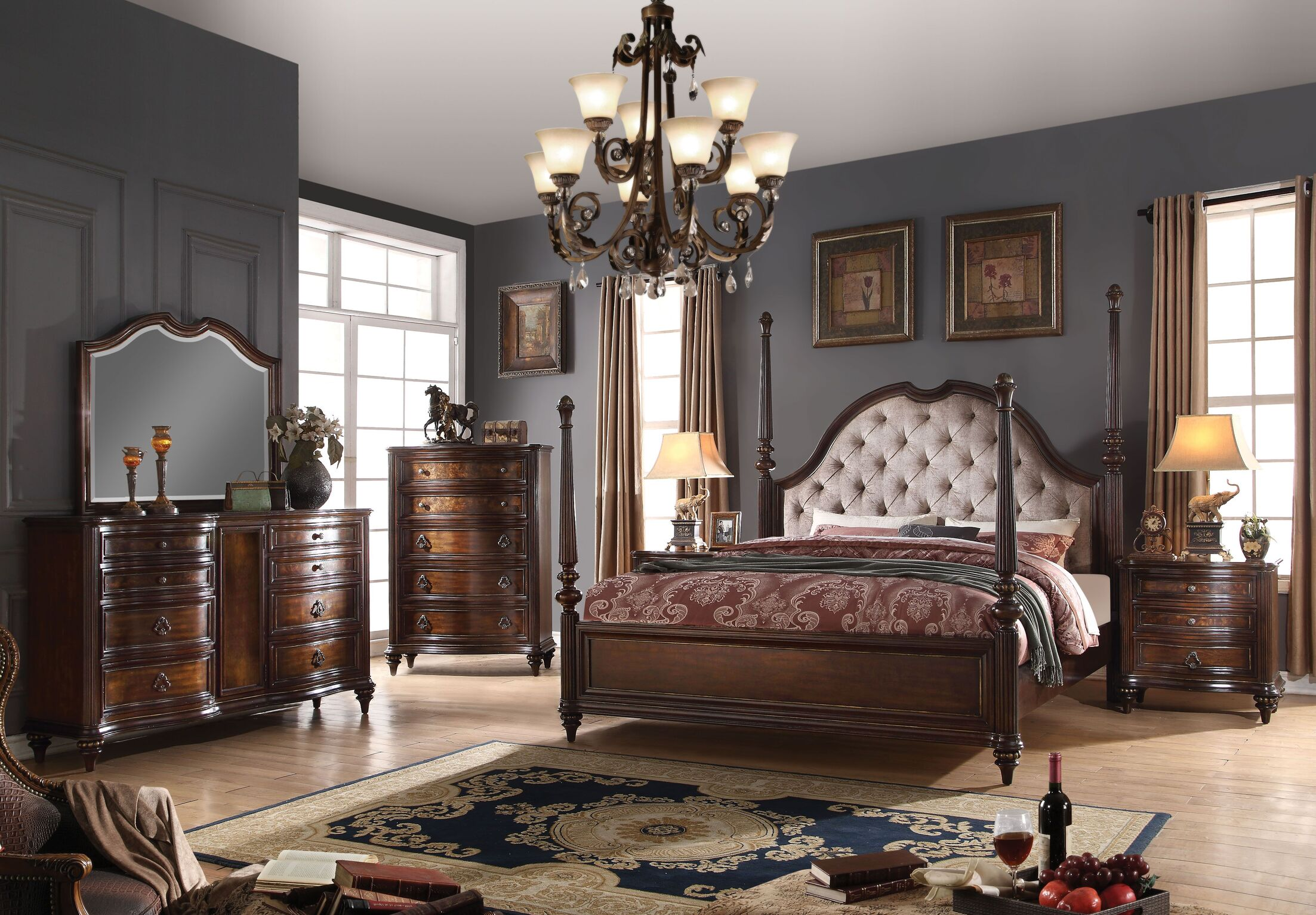 Cesar Four Poster Configurable Bedroom Set