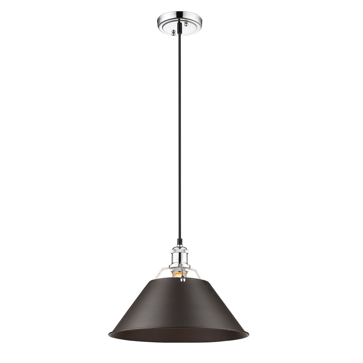 Weatherford 1-Light Dome Pendant Shade Color: Rubbed Bronze, Size: 130