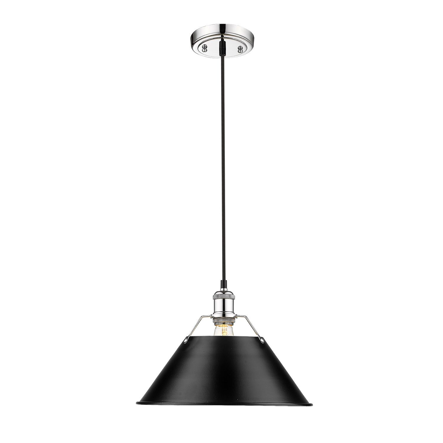 Weatherford 1-Light Dome Pendant Shade Color: Black, Size: 130