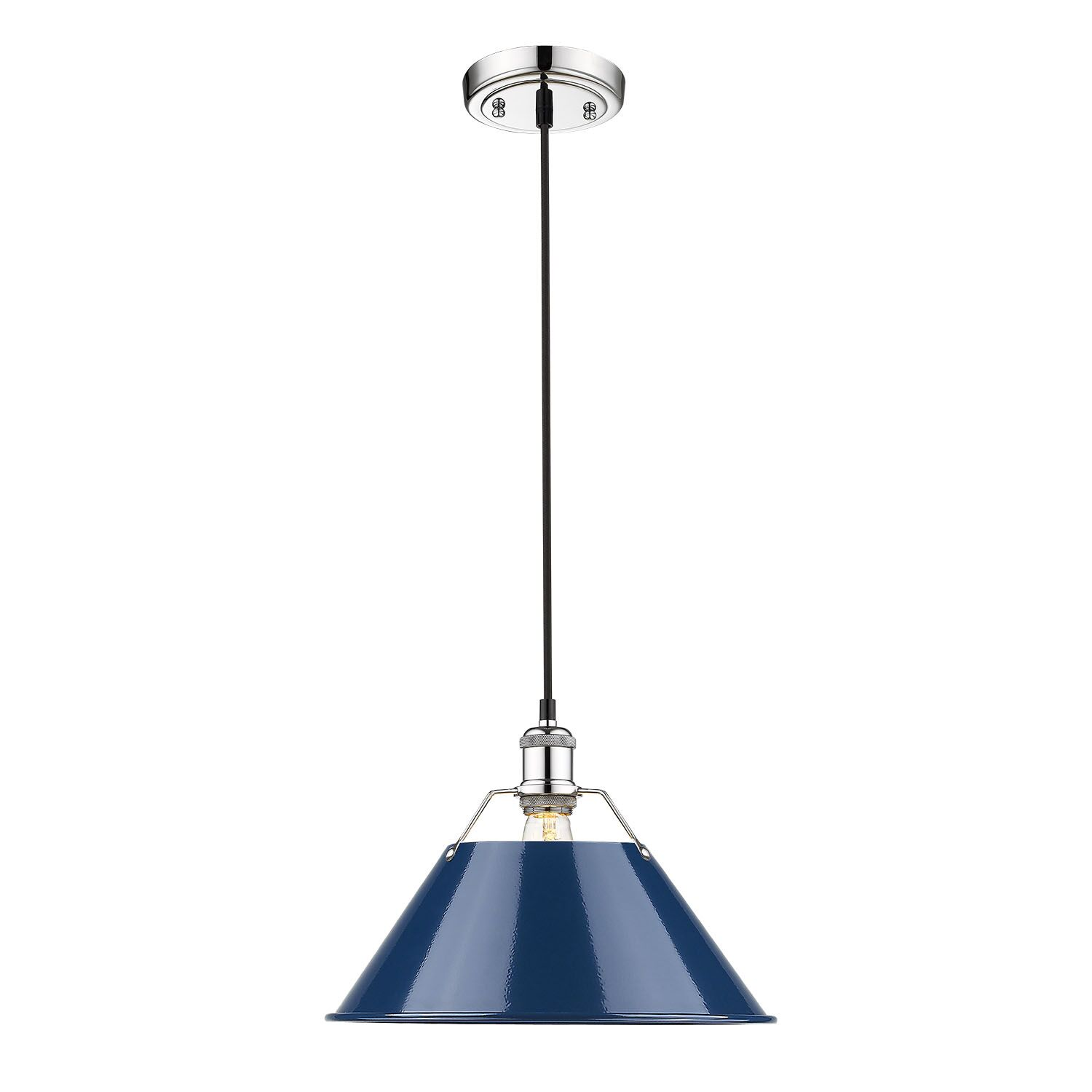 Weatherford 1-Light Dome Pendant Shade Color: Navy, Size: 130