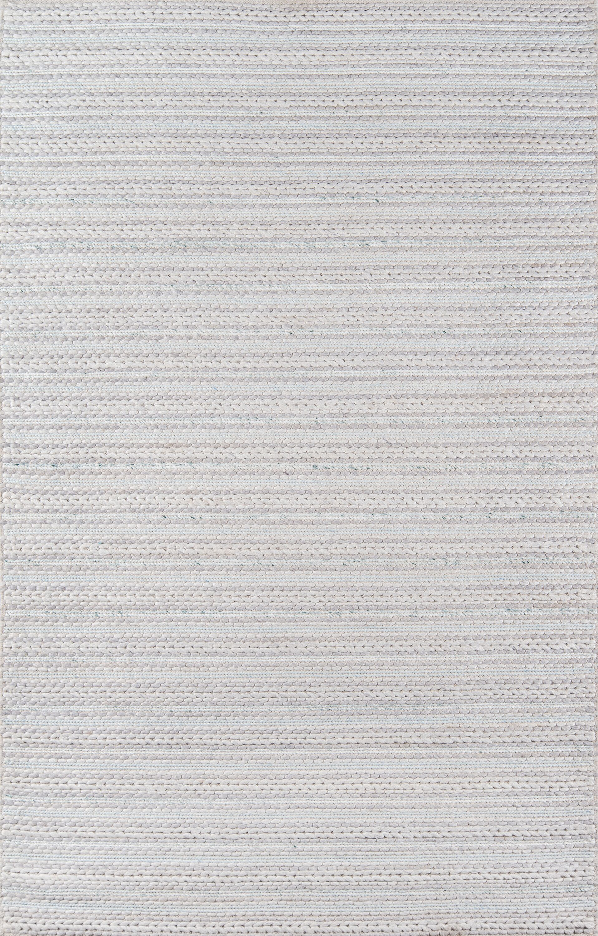 Elissa Hand-Woven Light Gray Area Rug Rug Size: Rectangle 8'9
