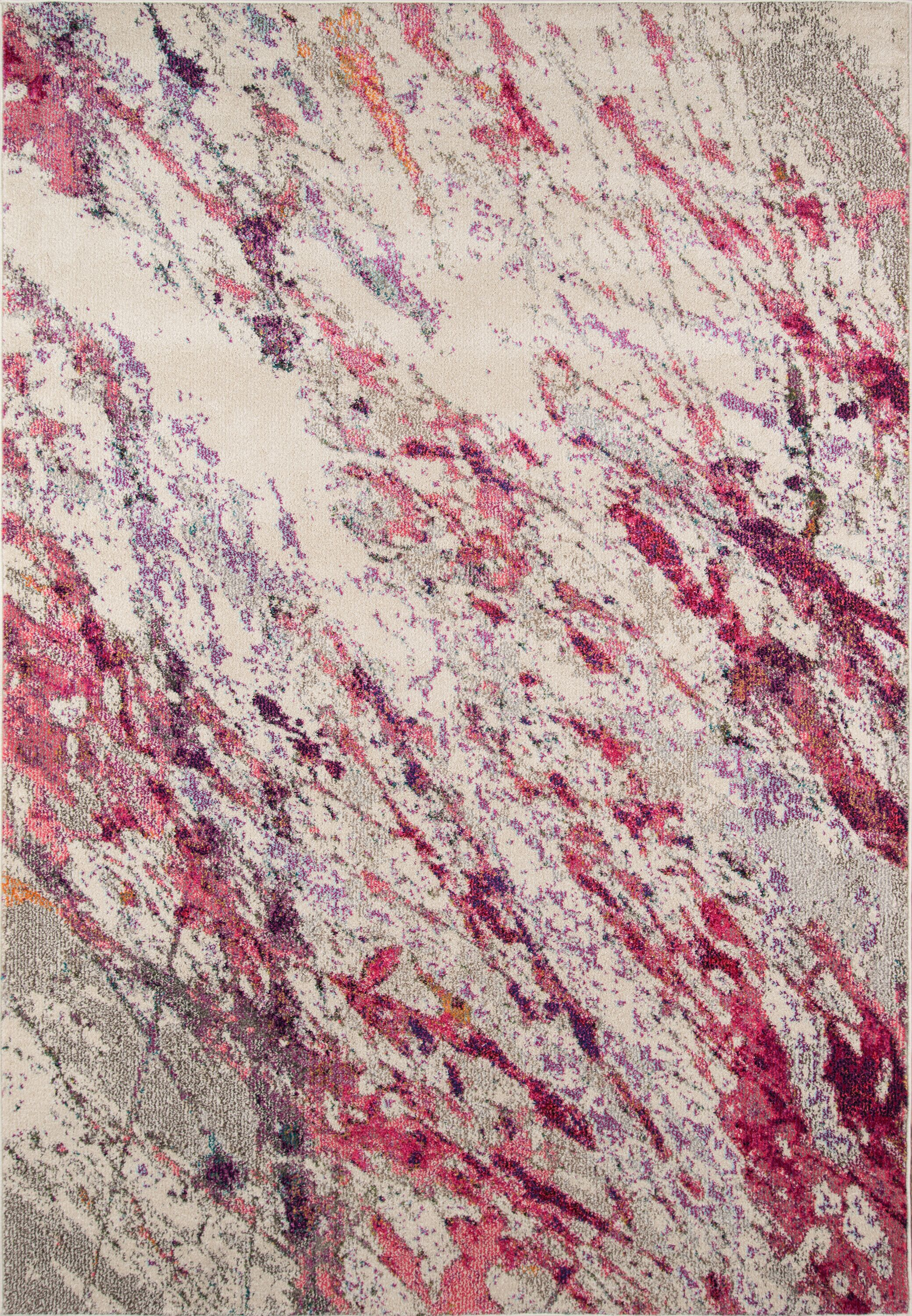 Portia Pink Area Rug Rug Size: Rectangle 7'10