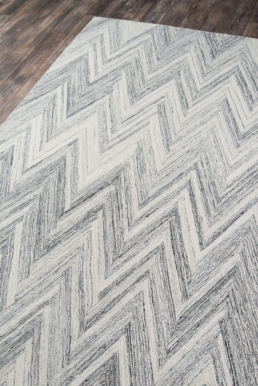 Harmond Hand-Tufted Wool Gray Area Rug Rug Size: Rectangle8' x 10'