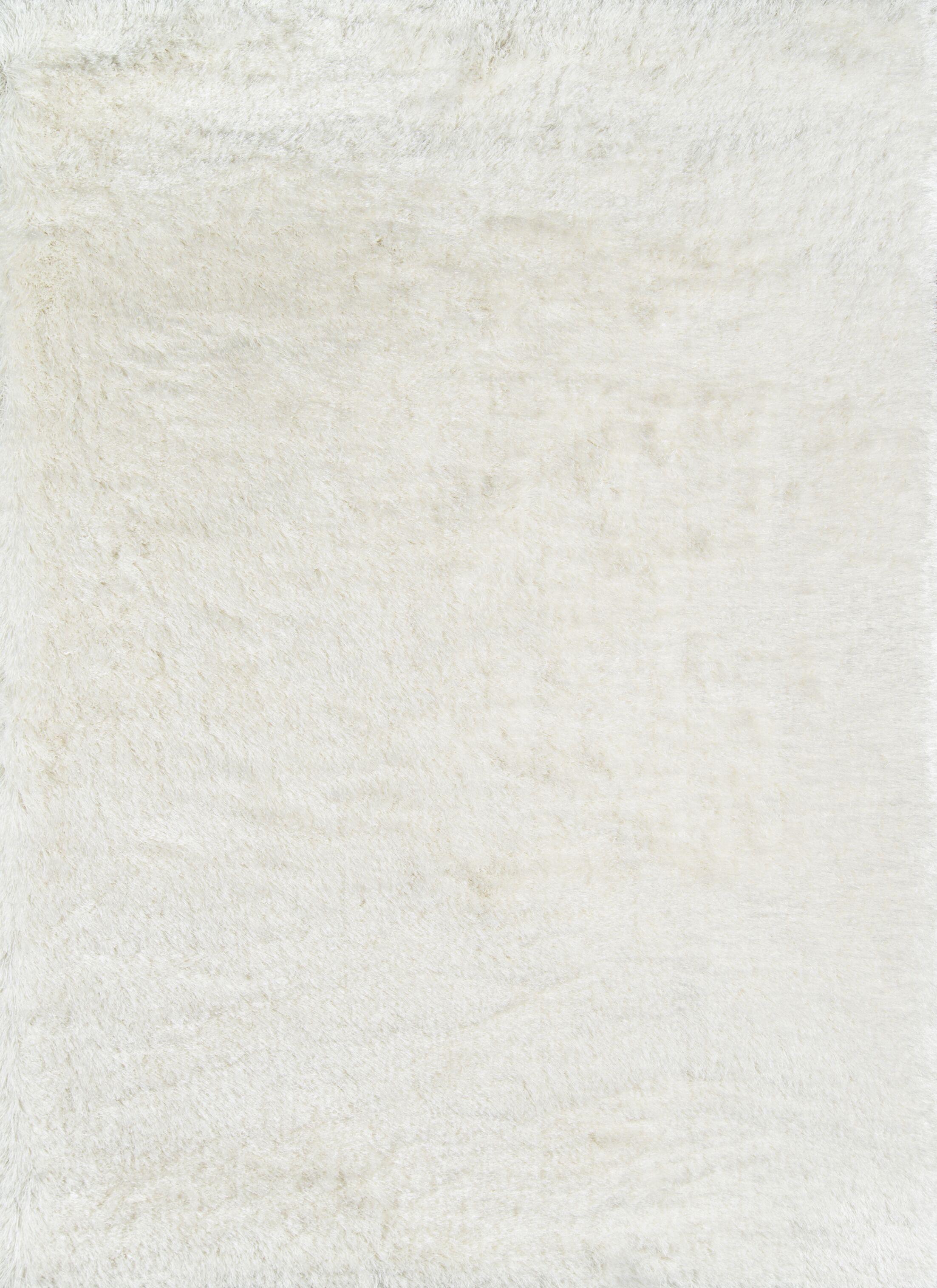 Houser White Area Rug Rug Size: Rectangle7'6
