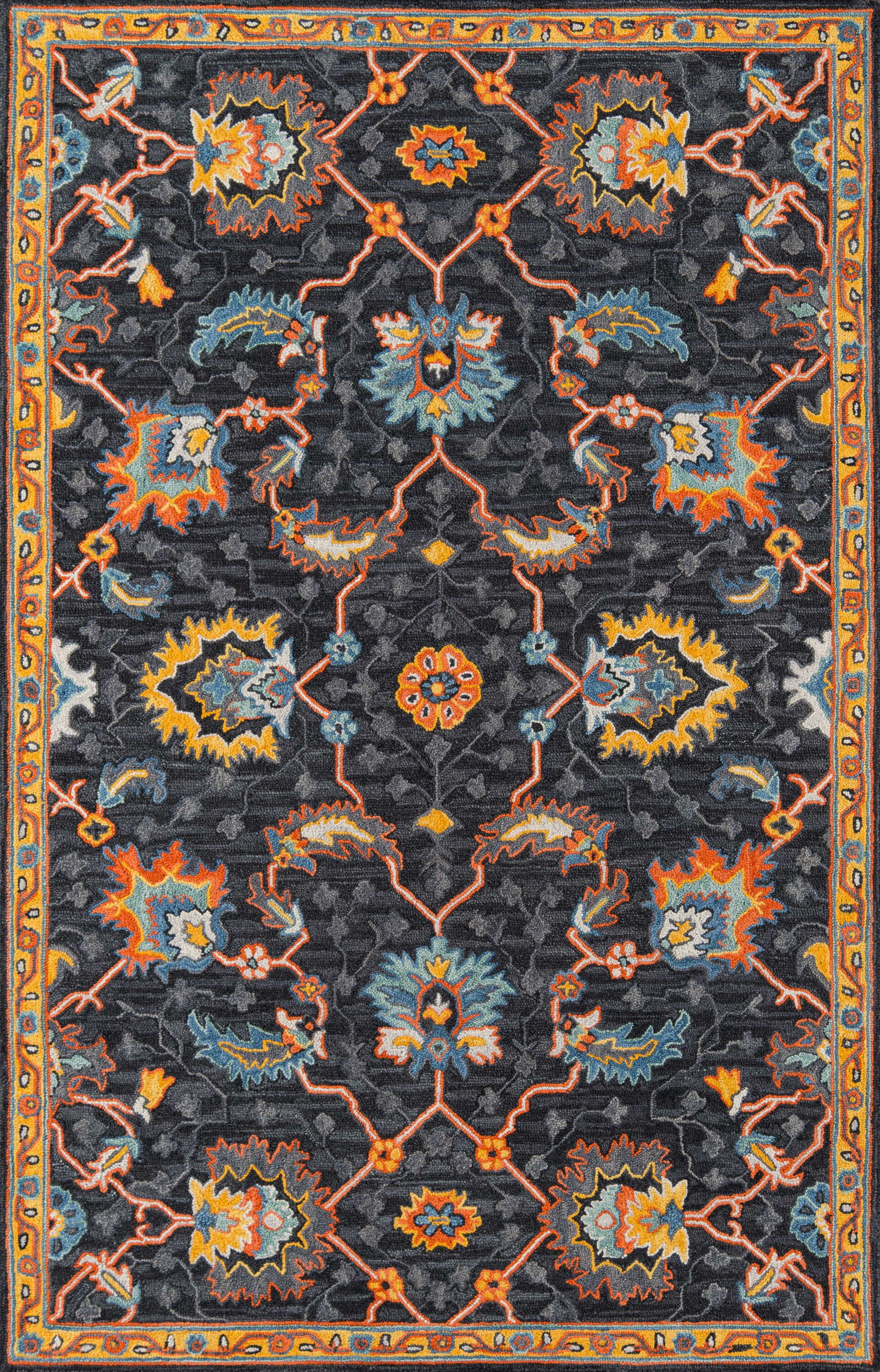 Lancaster Hand-Tufted Wool Charcoal Area Rug Rug Size: Runner 2'3