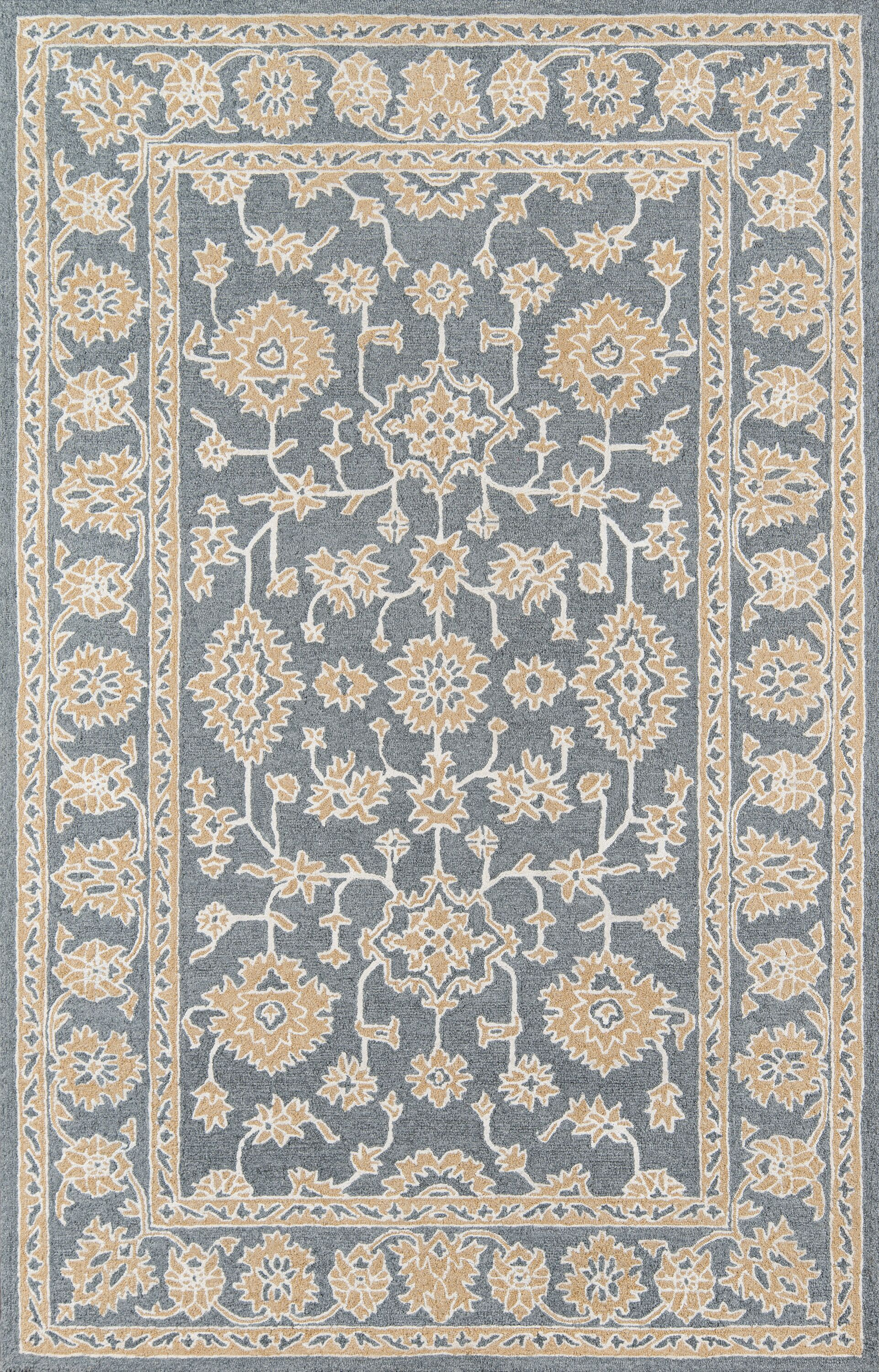 Paisley Hand-Tufted Gray Area Rug Rug Size: Rectangle 8' x 10'