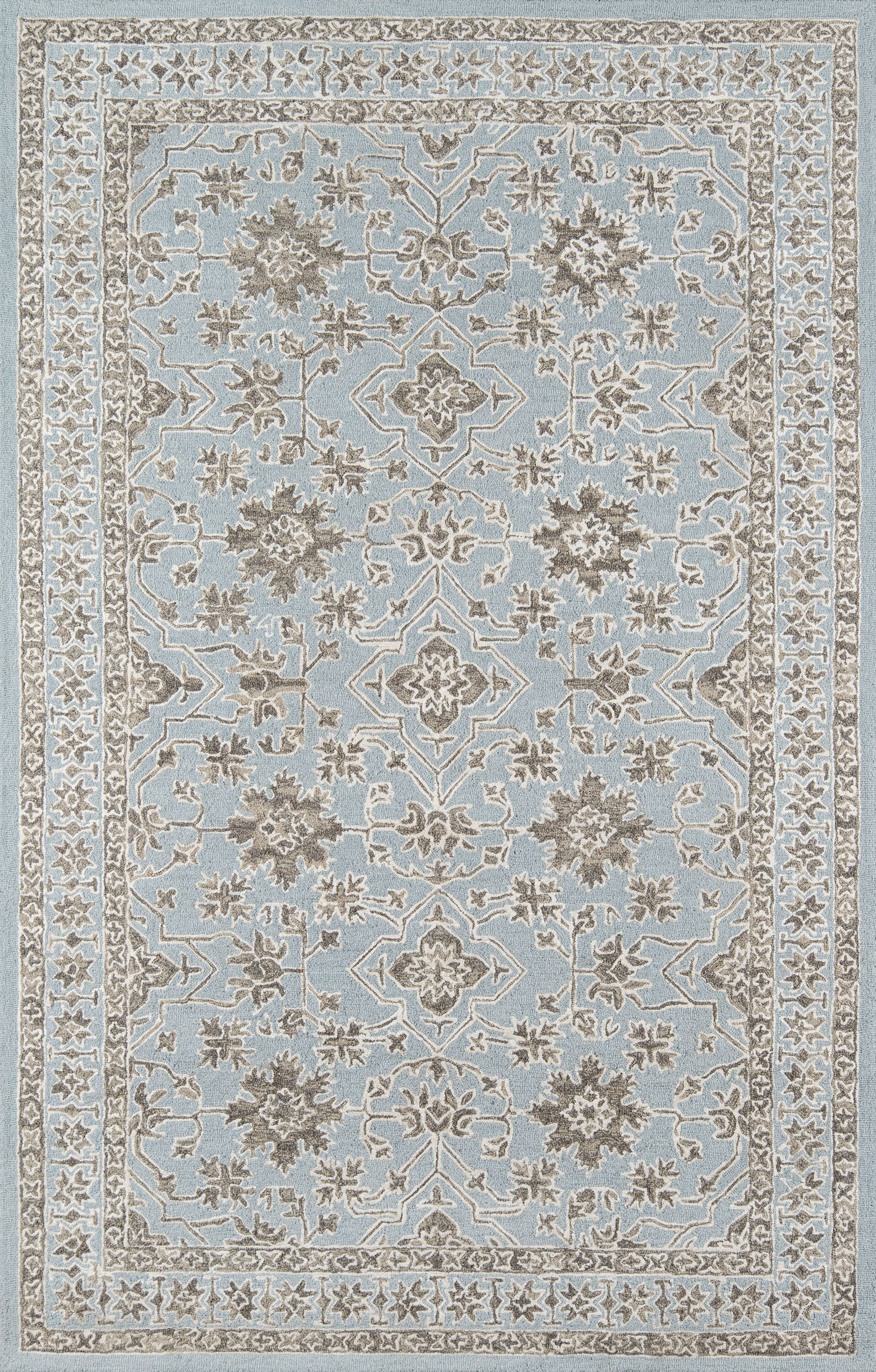 Paisley Hand-Tufted Blue Area Rug Rug Size: Rectangle 9' x 12'