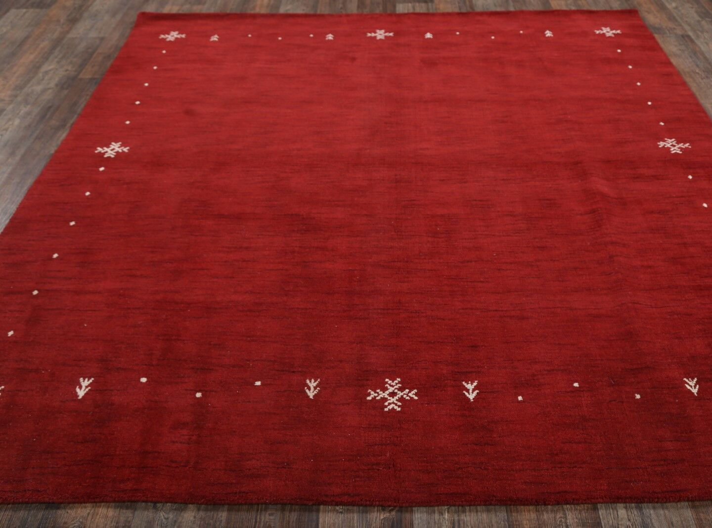 Finlayson Gabbeh Oriental Hand-Knotted Wool Red/Burgundy Area Rug Rug Size: Rectangle 8'2