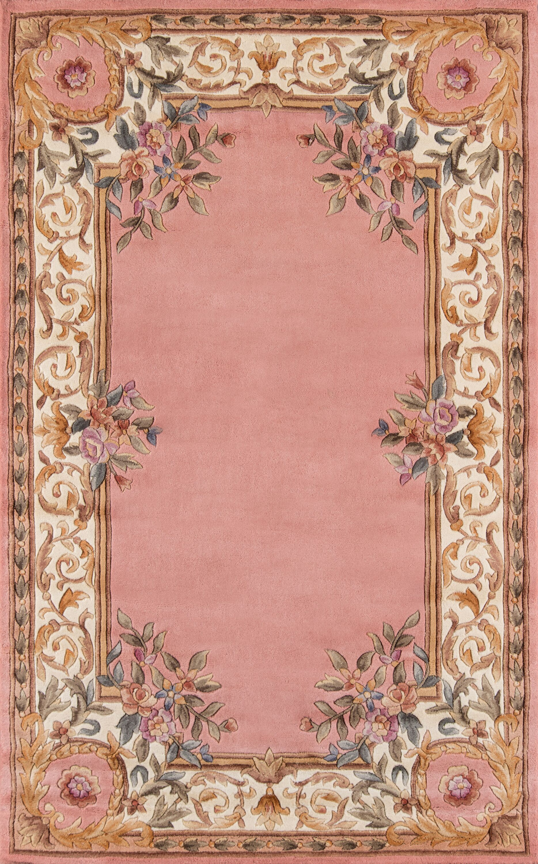 Laurel Hand-Tufted Wool Rose Area Rug Rug Size: Octagon 7'9