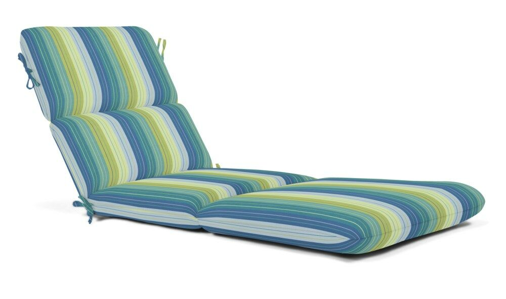 Indoor/Outdoor Chaise Lounge Cushion Fabric: Seville Seaside
