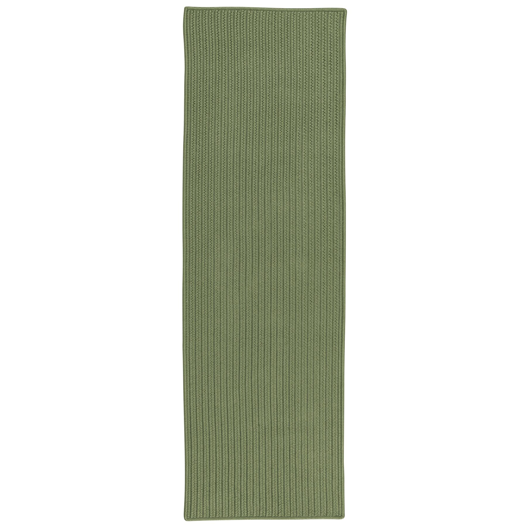 Kaleigh All-Purpose Mudroom Hand-Braided Moss Green Area Rug Rug Size: Runner 2' x 9'