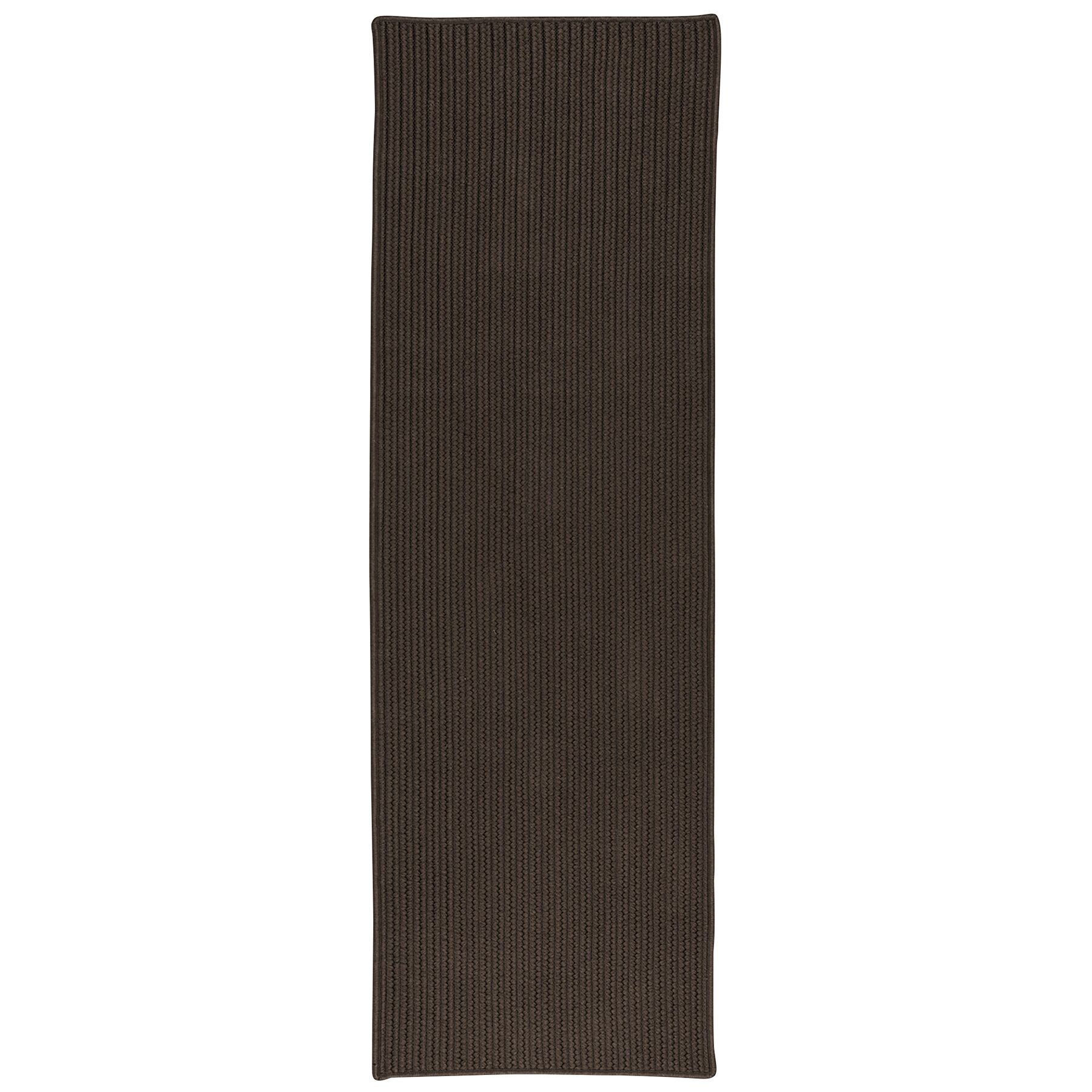 Rylie All-Purpose Mudroom Hand-Braided Brown Area Rug Rug Size: Runner 2' x 8'
