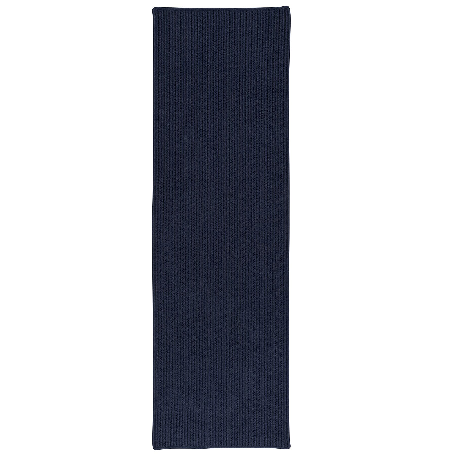Marie All-Purpose Mudroom Hand-Braided Navy Area Rug Rug Size: Runner 2' x 6'