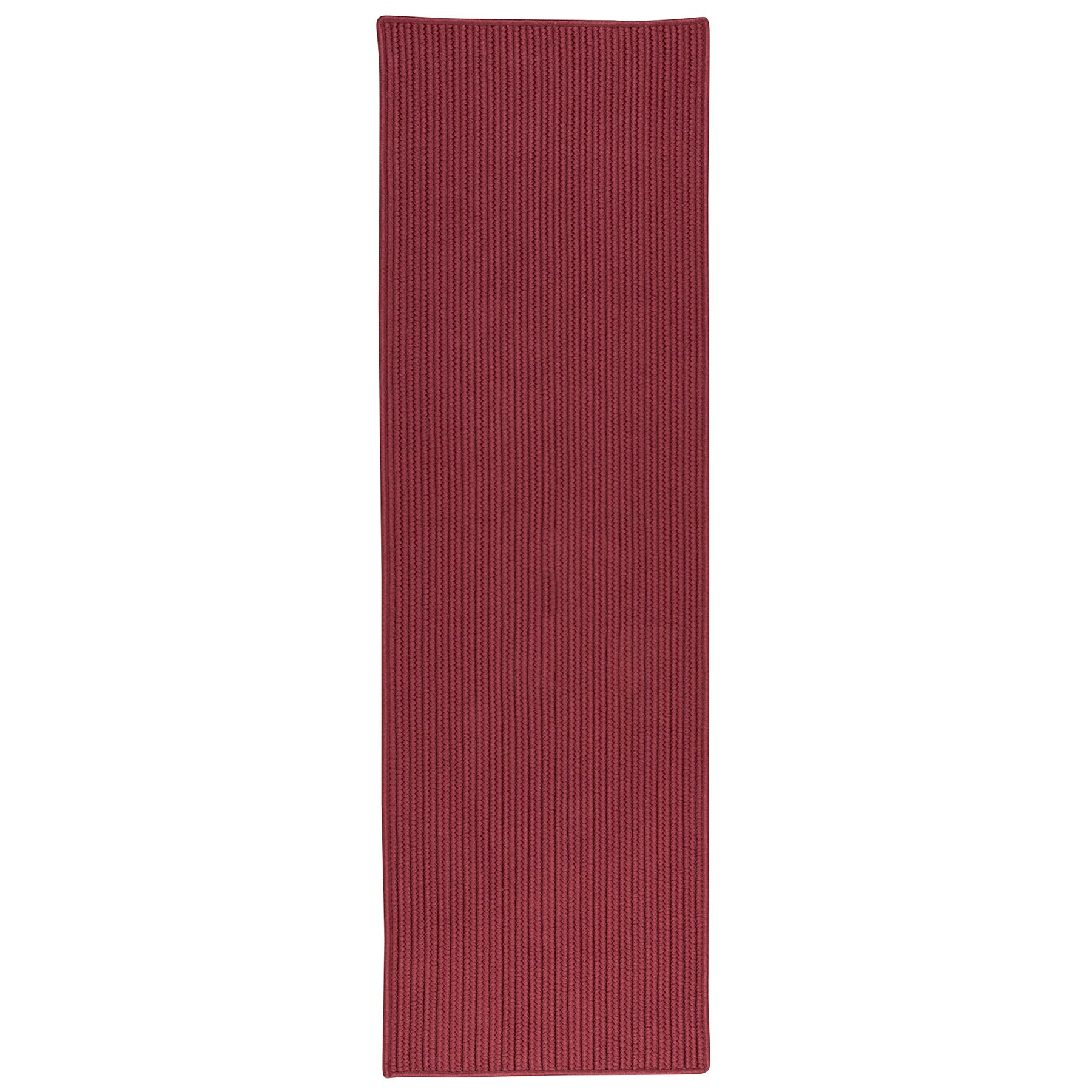 Carissa All-Purpose Mudroom Hand-Braided Brick Red Area Rug Rug Size: Runner 2' x 10'