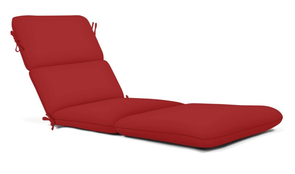 Chaise Lounge Cushion Fabric: Red