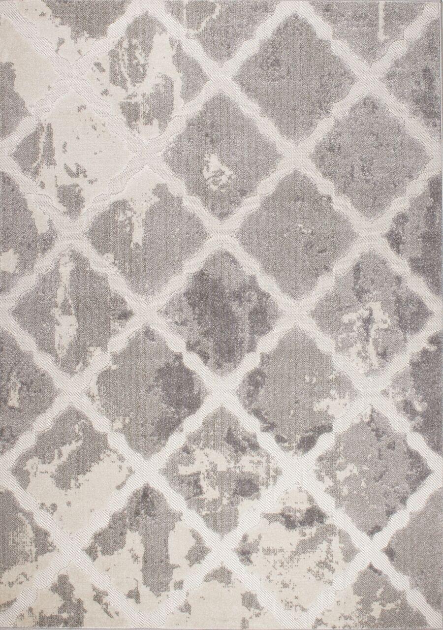 Cornelia Trellis Cream/Gray Area Rug Rug Size: Rectangle 5'3'' x 7'7''