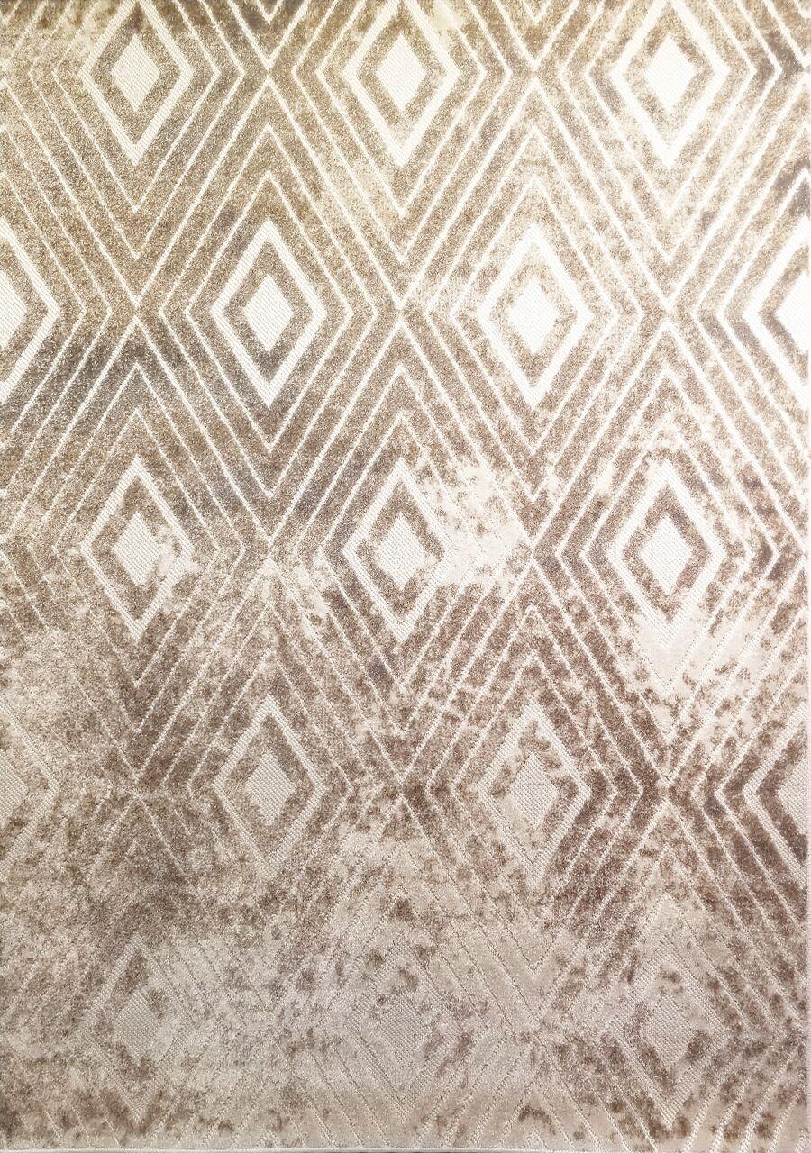 Ancroft Diamond Beige Area Rug Rug Size: Rectangle 5'3'' x 7'7''