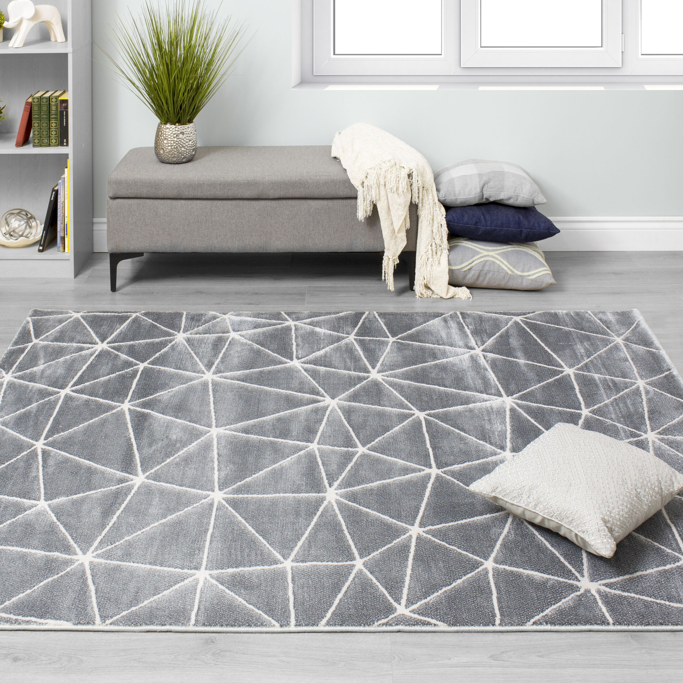 Finnick Starlight Dome Gray Area Rug Rug Size: Rectangle 5'3'' x 7'7''