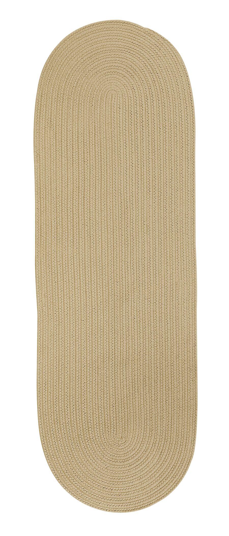Weldon Reversible Hand-Braided Beige Indoor/Outdoor Area Rug Rug Size: Runner 2'4