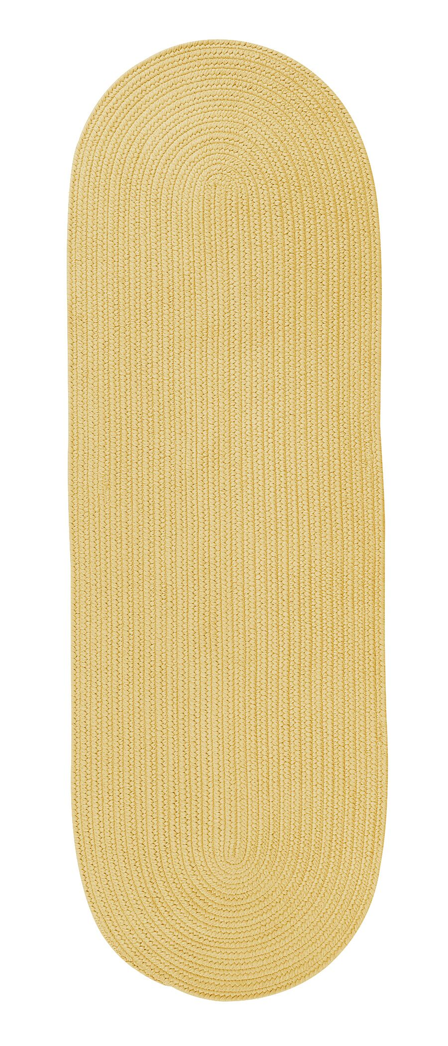 Whitewood Reversible Hand-Braided Yellow Indoor/Outdoor Area Rug Rug Size: Runner 2'4