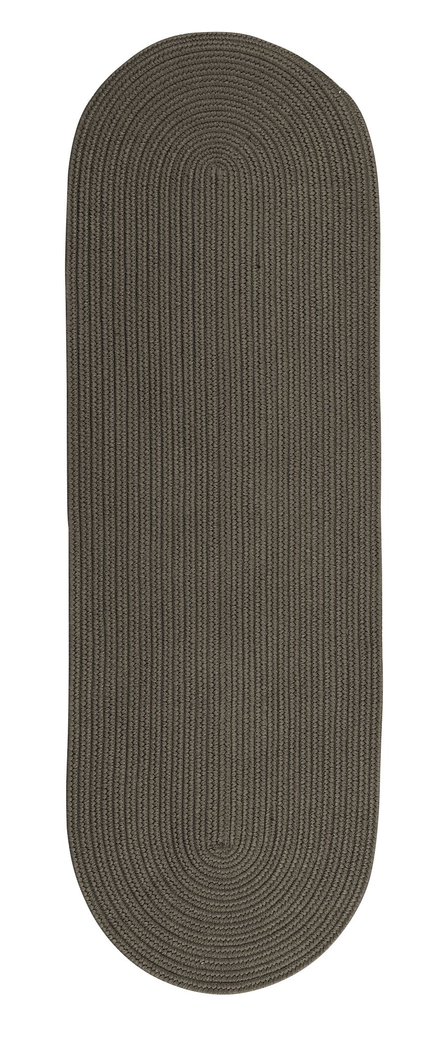 Wellbrock Reversible Hand-Braided Gray Indoor/Outdoor Area Rug Rug Size: Runner 2'4