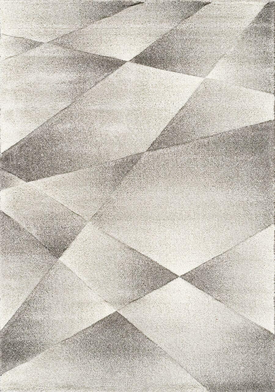 Ellie Shaded Polygons Gray/Cream Area Rug